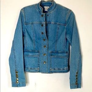 Cache Button Up Jean Jacket size 4 with Pockets